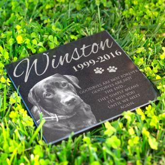 Personalized Dog Memorial with Photo Free Engraving