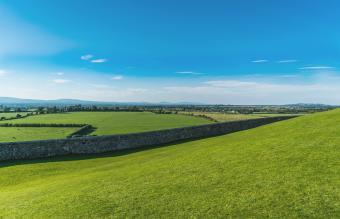 Green landscape in Ireland