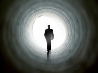 Near death experience tunnel of light