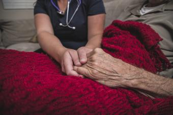 Comforting a dying patient