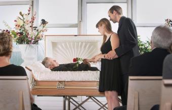 Open casket wake