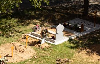 New grave in Muslim cemetery