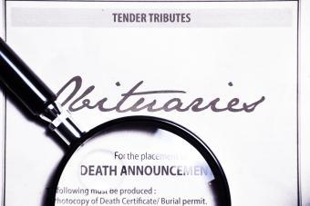 Basic Newspaper Obituary Template