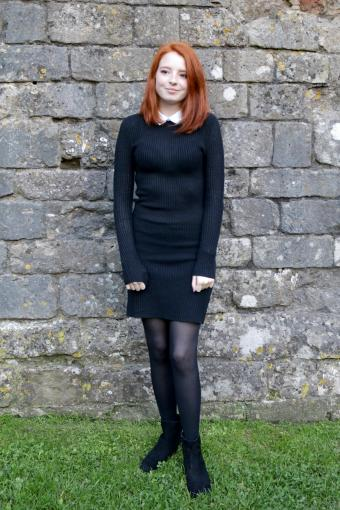 Long Sleeve Dress With Tights
