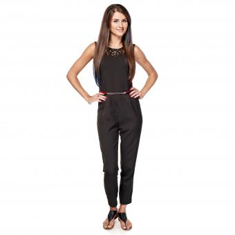 woman in sleeveless pant jumpsuit