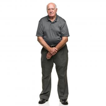 man in polo shirt with slack