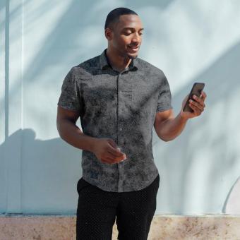 young man wearing shirt