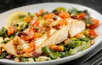 Grilled Halibut with Capers