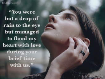 Quote About Miscarriage and Emotions: Woman Crying In The Rain
