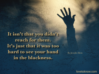 Hand shadow and suicide quote
