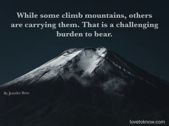 Dark Mountain and a suicide awareness quote