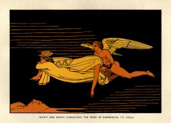 Sleep and Death carrying body Sarpedon to Lycia