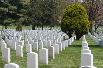 headstones at national cemetery