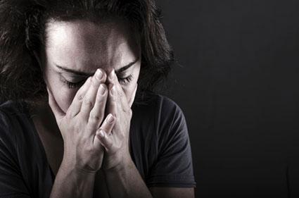 Woman feeling grief