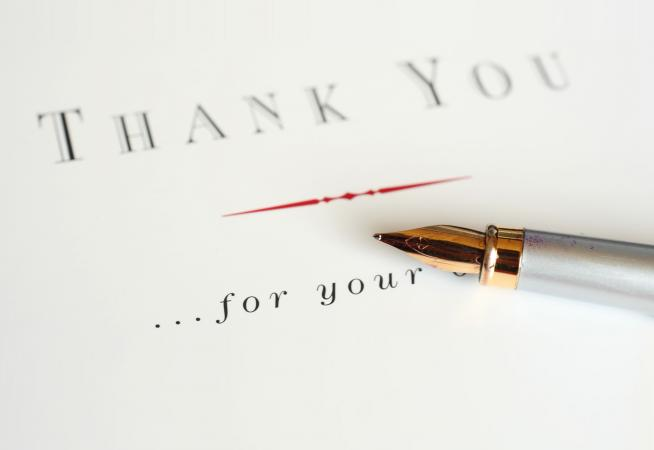 thank you letter sample business meeting