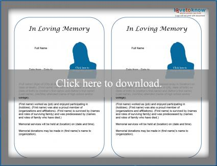 Free Obituary Templates  Lovetoknow