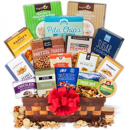 Snack Gift Basket - Deluxe