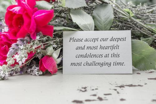 written condolences