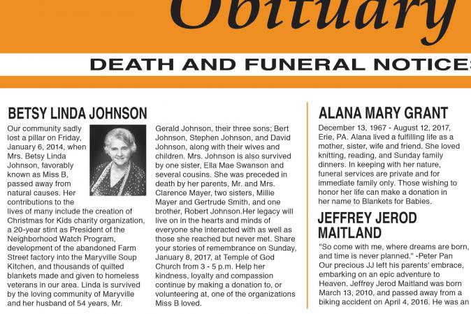 Sample Obituary Formats  Lovetoknow