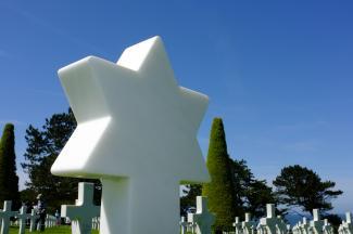 Military Jewish headstone