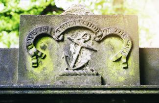 anchor headstone
