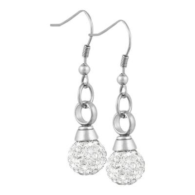 Perfect Memorials Crystal Ball Stainless Steel Cremation Earrings