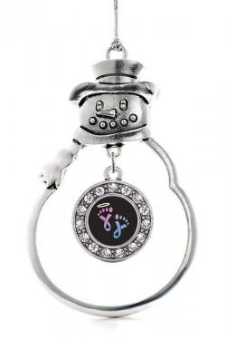 Inspired Silver - Circle Infancy Loss Snowman Ornament