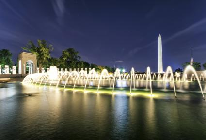 World War II Memorial with Washington