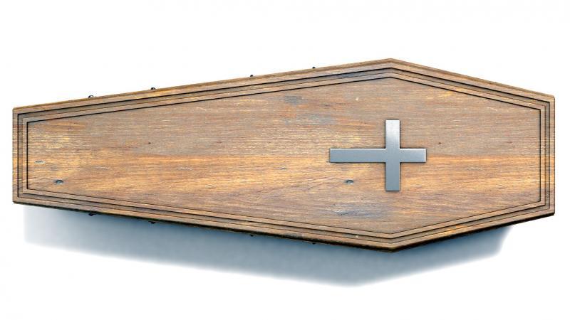 wooden coffin