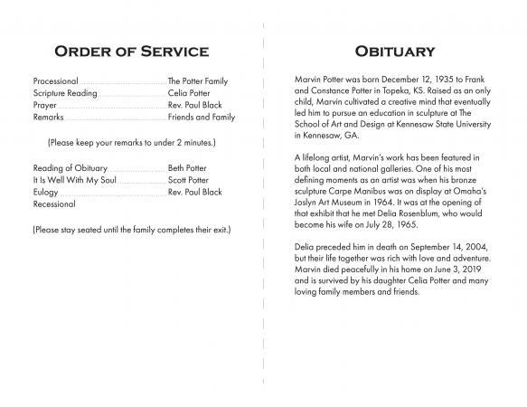 Sample Funeral Program