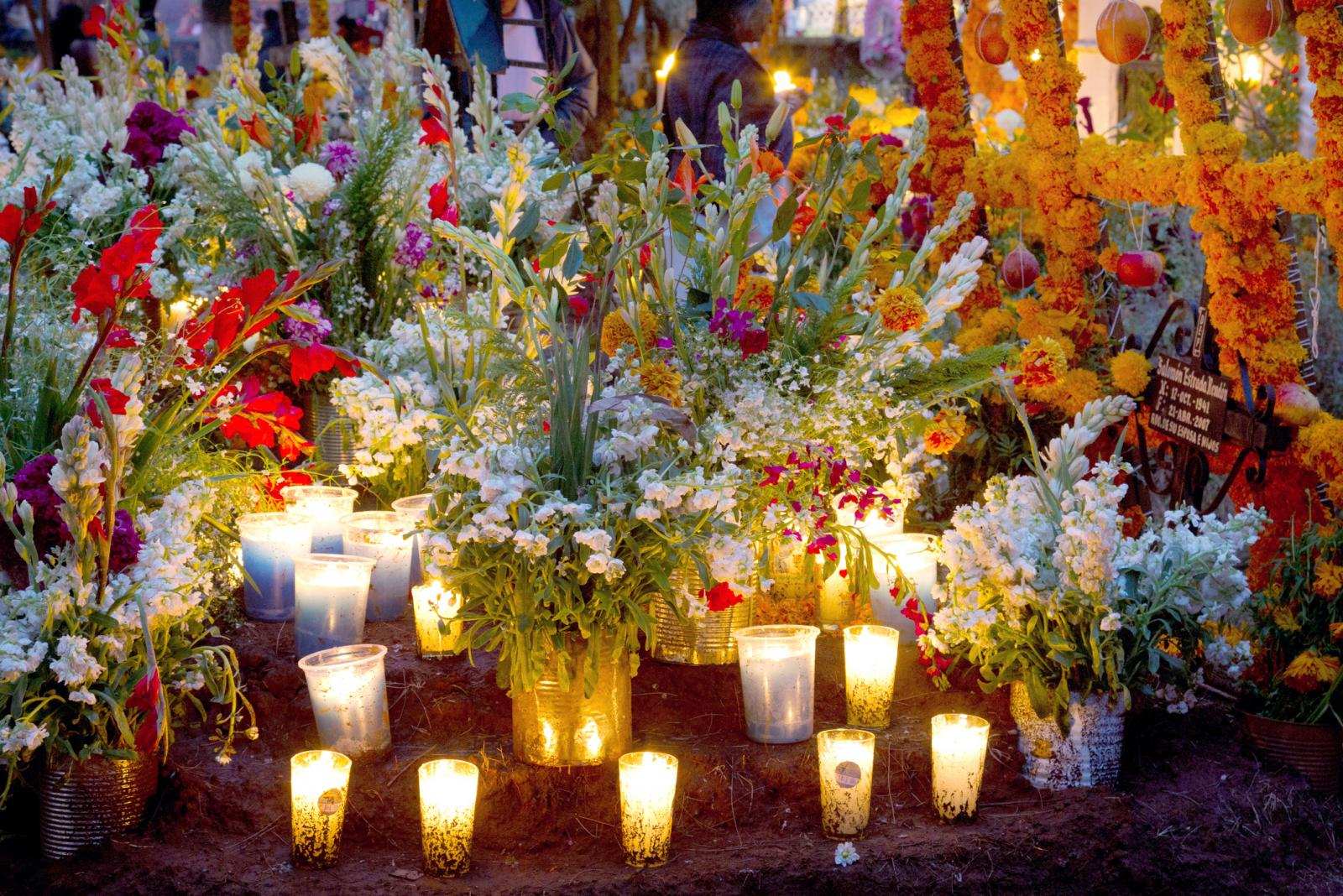 The Day of the Dead is celebrated in the towns and villages