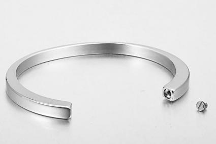 Valyria Stainless Steel Smooth Cremation Urn Bracelet