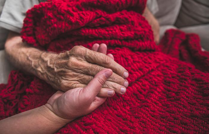Family member in hospice