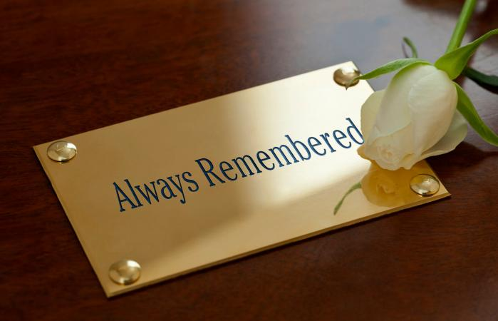 Always Remembered Plaque