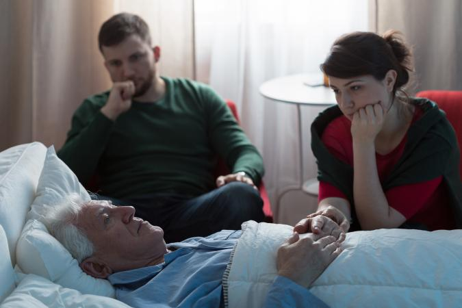 Family at deathbed