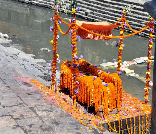 Cremation preparation for Hindu funeral