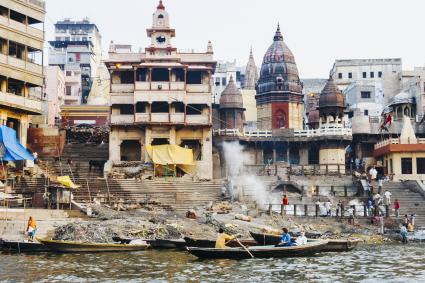 Cremations by Ganges River
