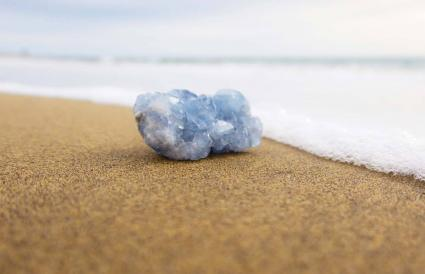 Celestite On Shore At Beach