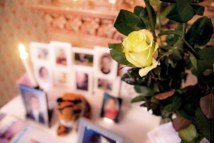 Flower in memorial event