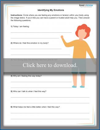 Child Grief Worksheet 1