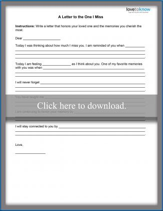 Teen Grief Worksheet 2