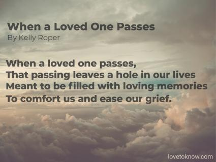 When a Loved One Passes Obituary Poem