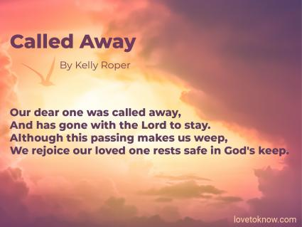 Called Away Obituary Poem