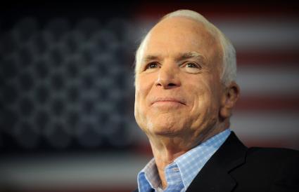 Republican presidential candidate John McCain