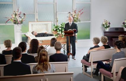 religious funeral service