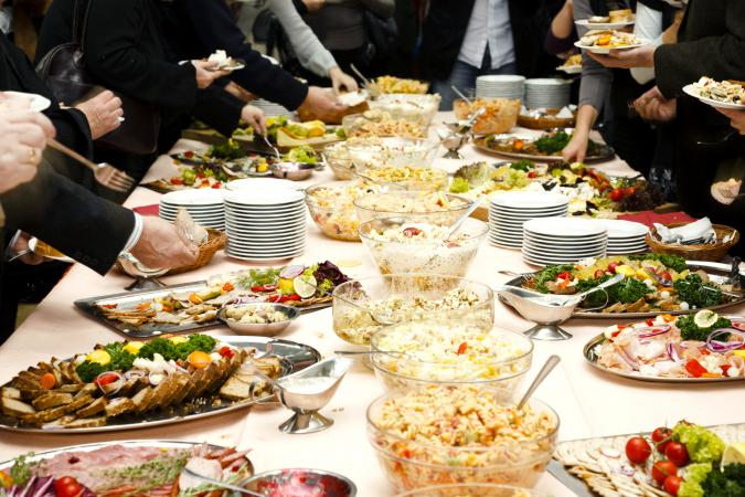 Funeral Catering Table