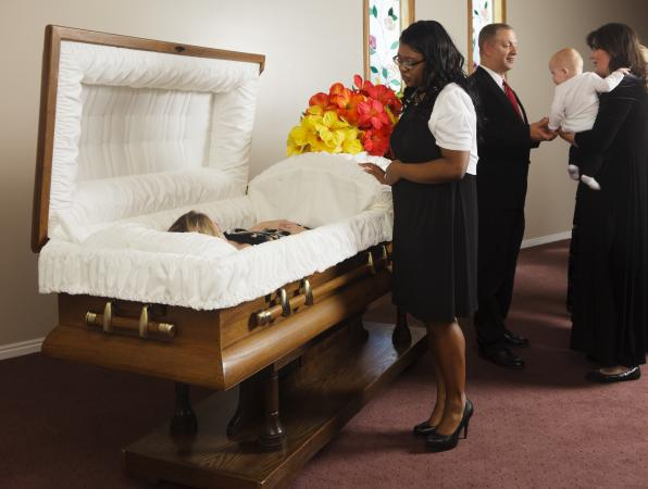 Visitation at a funeral home