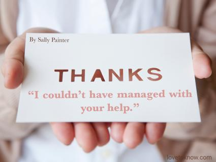 Thank you notes for your coworkers