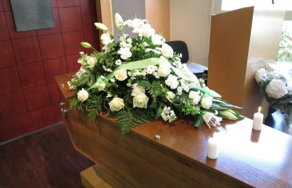 Flowers on funeral