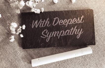 With deepest sympathy note